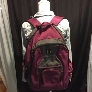 Large purple backpack. FUL